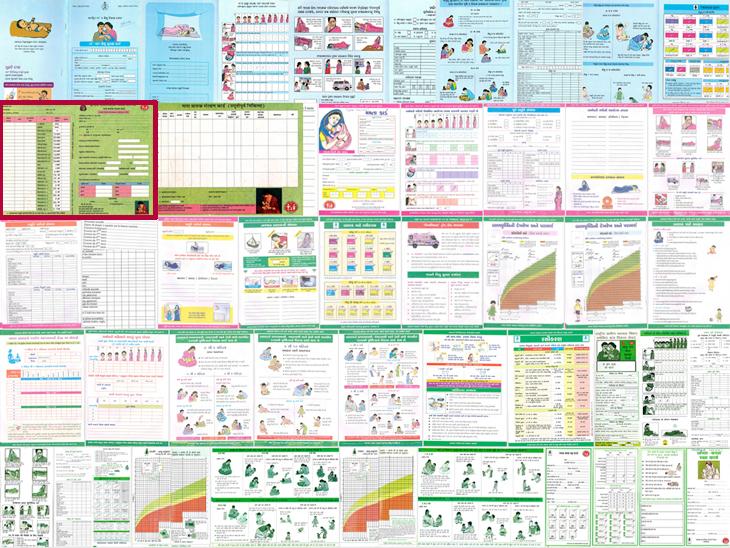 various Immunization card