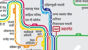 Newly designed Pune Bus Map
