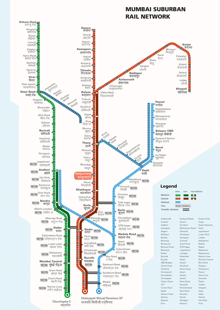 mumbai railway map pdf Design Of The Mumbai Local Railmap Information Visualization Project mumbai railway map pdf