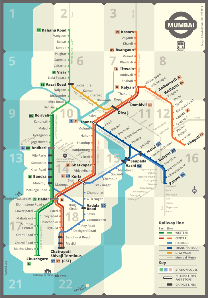 Mumbai Subway Map.Mumbai Railmap Mandar Rane