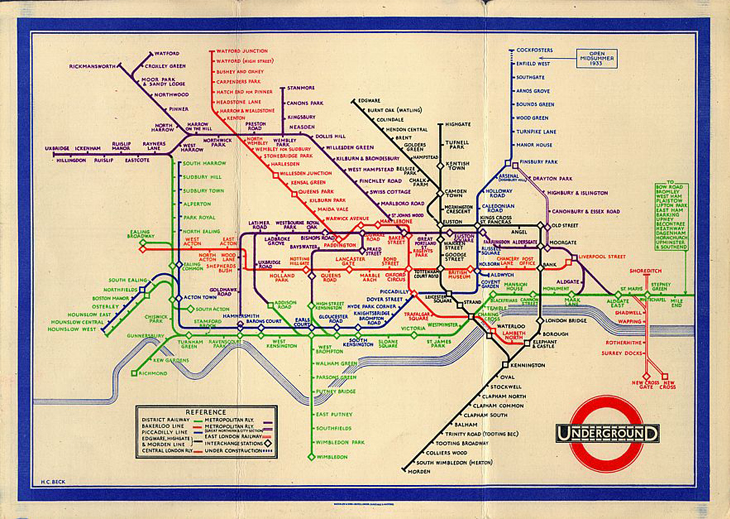 London Underground by Henry Beck
