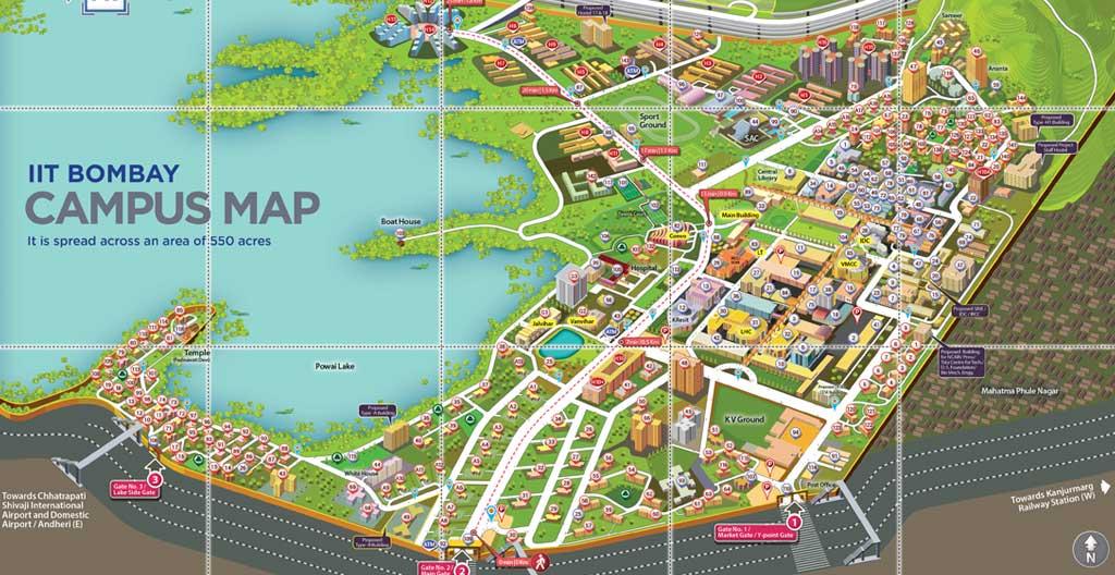 IITB Campus Map - Mandar Rane