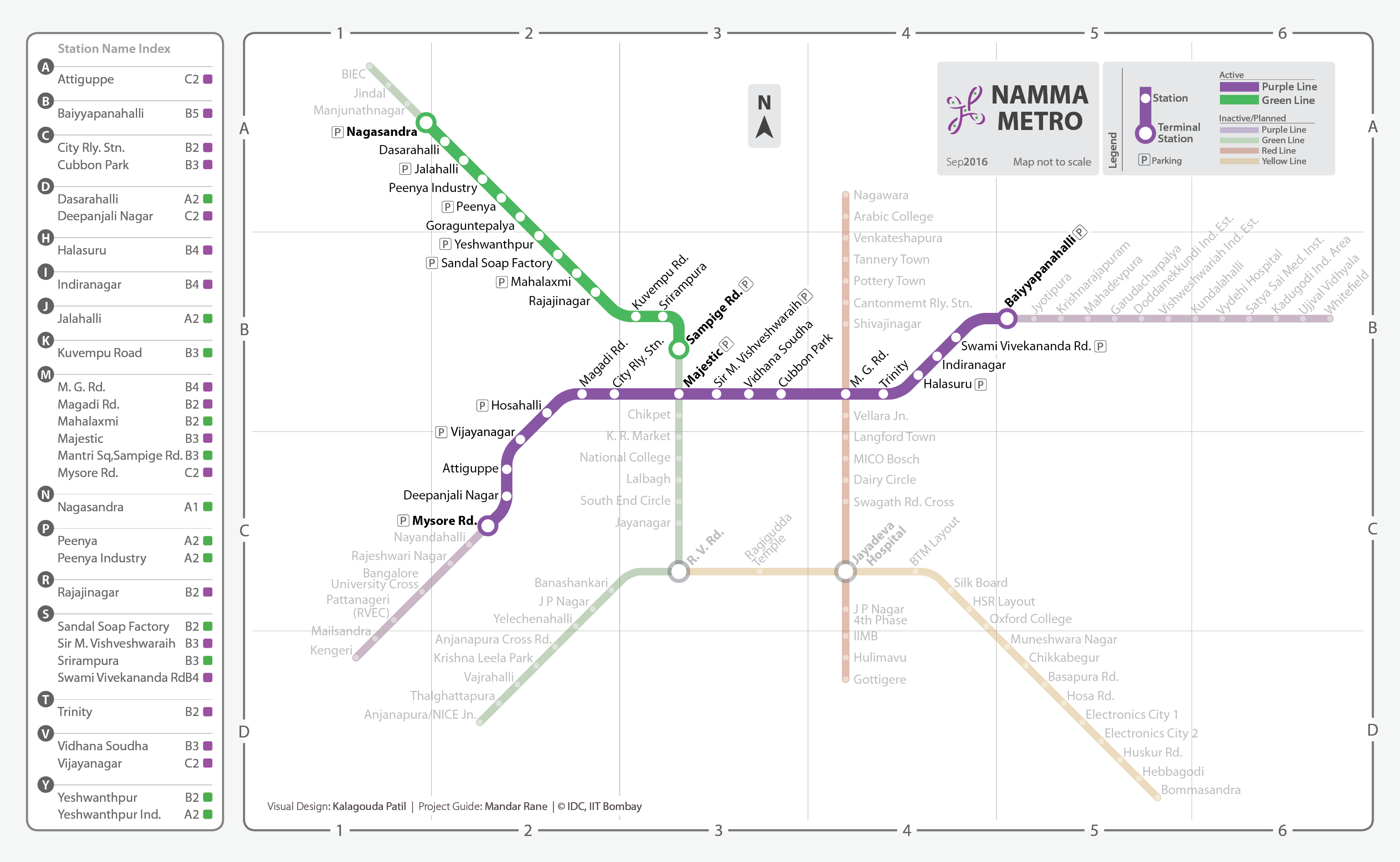 Namma Metro Bengaluru Student Kalagouda Patil Designs The Map Reading Schematic Diagram Choice Of Colours For Nmm Were Pre Decided By Authority Green And Purple Are Chosen Managing Phase 1