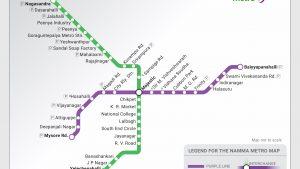 Namma Metro Map, visual design by Kalagouda Patil, July 2017, Industrial Design Centre, IIT Bombay