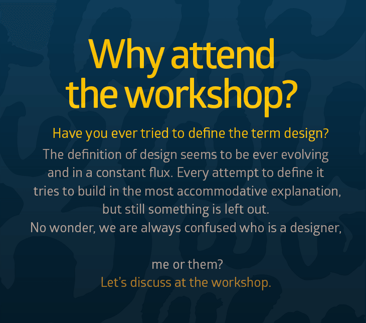Why attend the workshop?