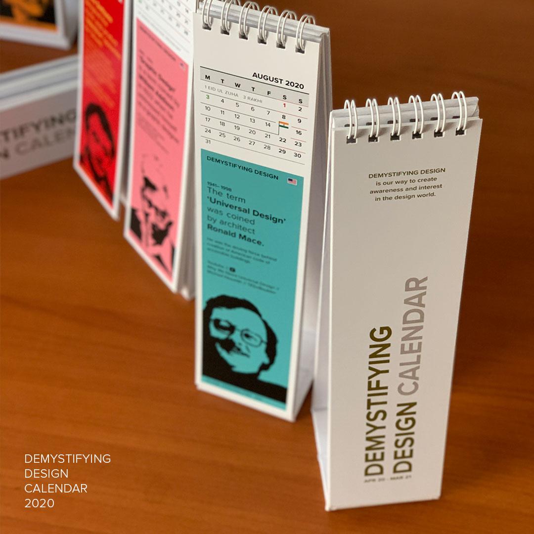 Printed Design Calendar 2020