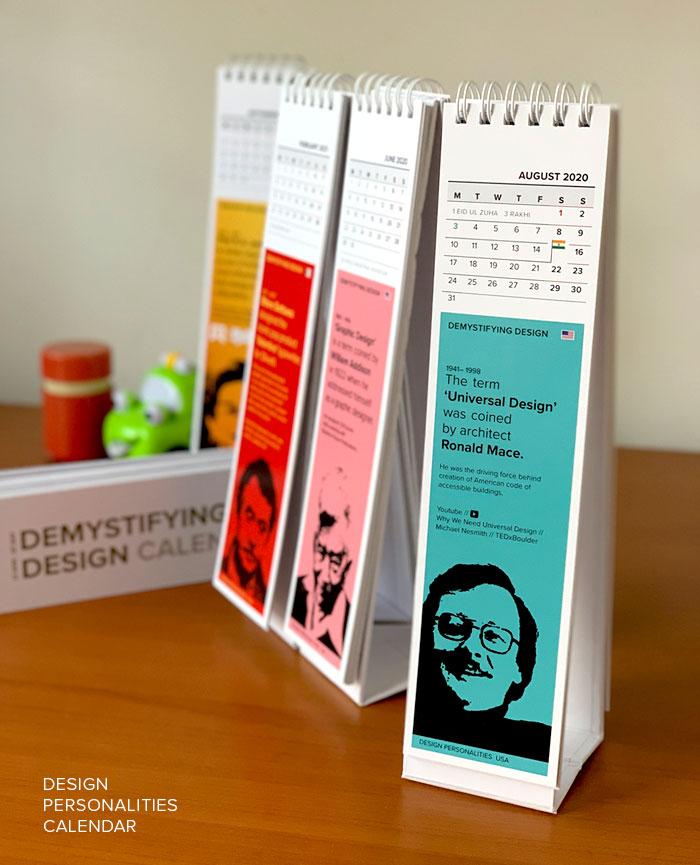 Demystifying Design calendar 2020