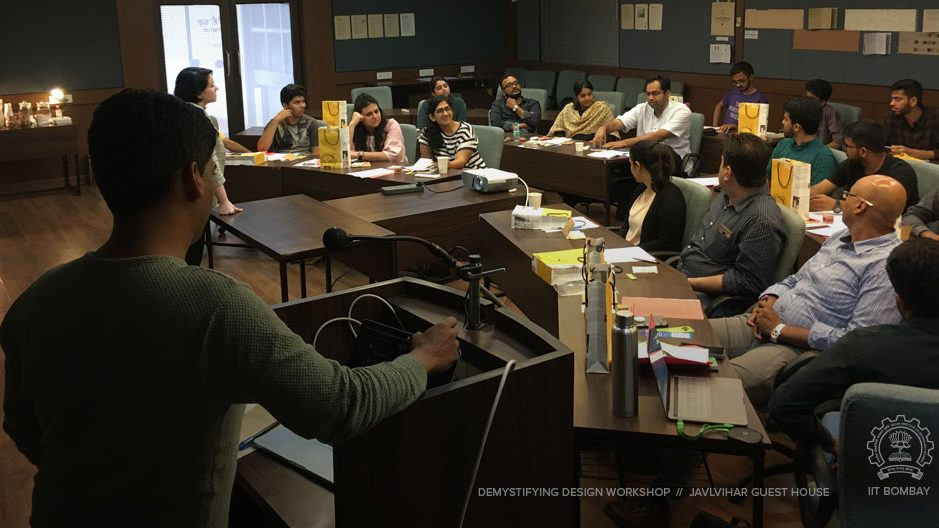 Cover image of the demystifying design workshop at IIT Bombay